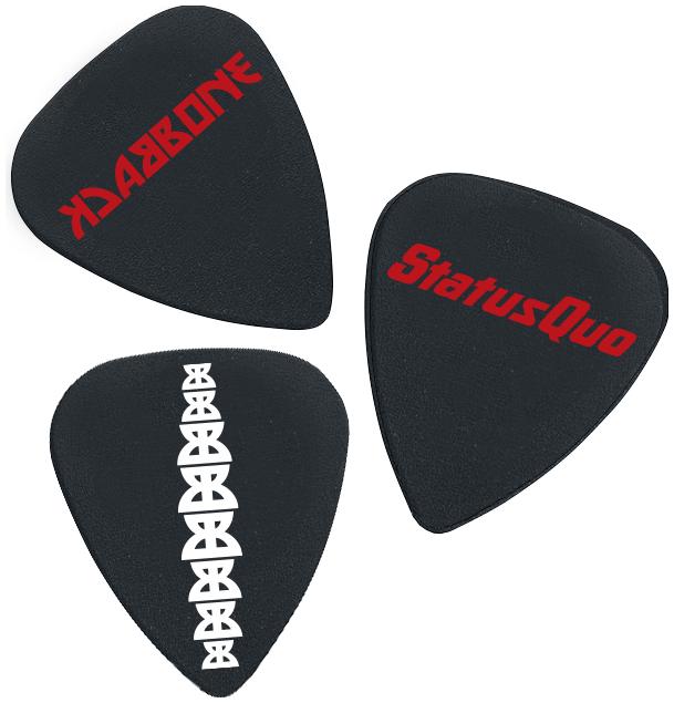Image of Status Quo Backbone CD & Plektrum-Set Standard