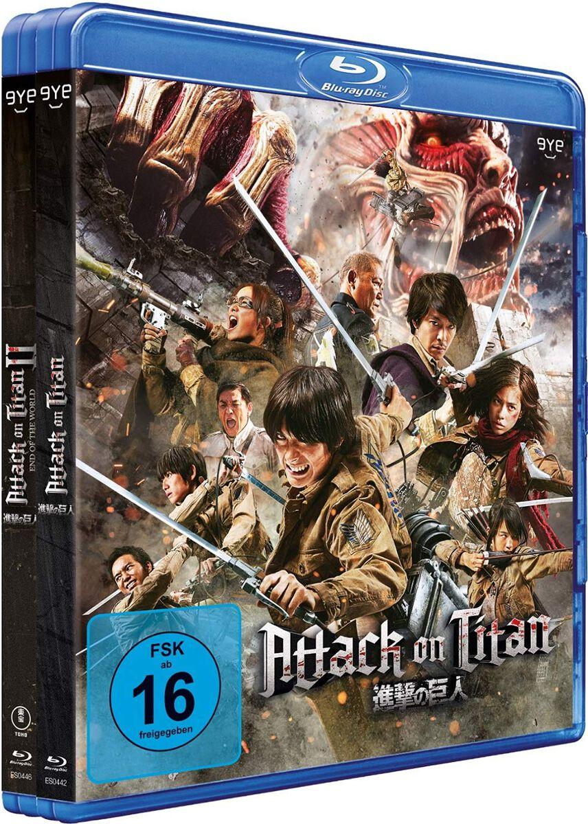 Image of Attack On Titan Film 1 & 2 2-Blu-ray Standard