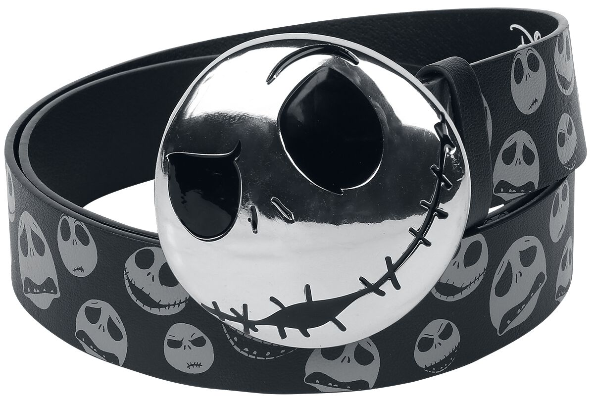 Guertel - The Nightmare Before Christmas Jack Skellington Gürtel schwarz grau  - Onlineshop EMP