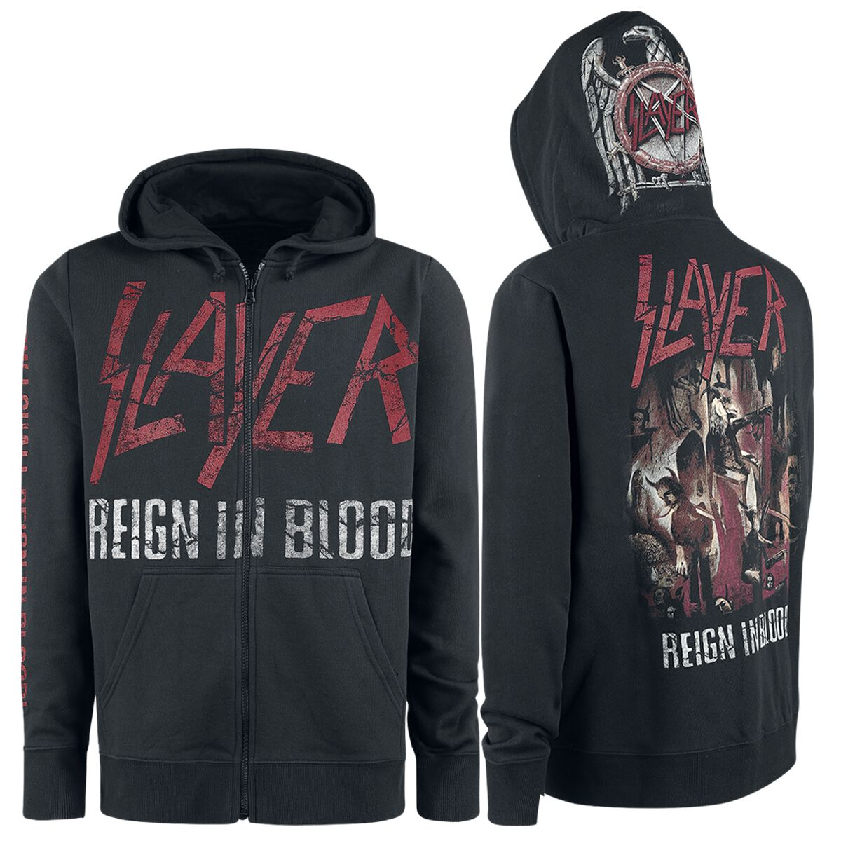 Slayer Reign In Blood Hooded zip black