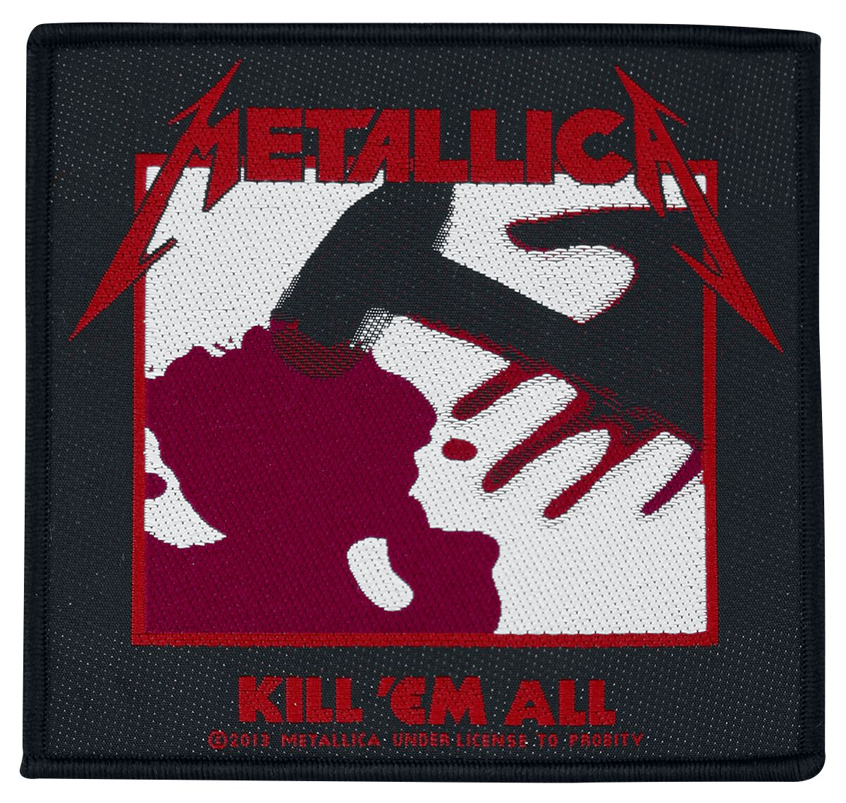Metallica  Kill 'Em All  Patch  schwarz/weiß/rot