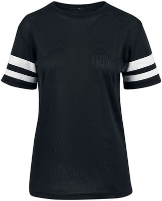 Ladies Mesh Stripe Tee