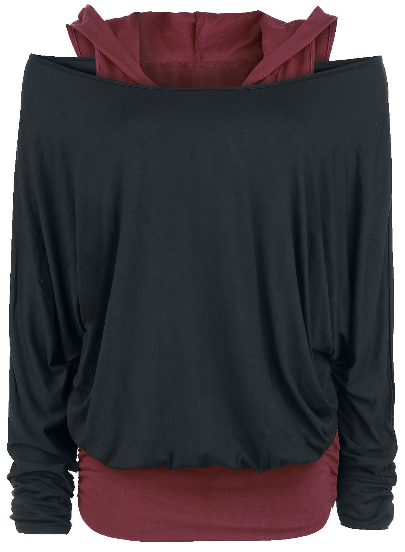 Black Premium by EMP - Get Loose - Girls longsleeve - black-bordeaux image