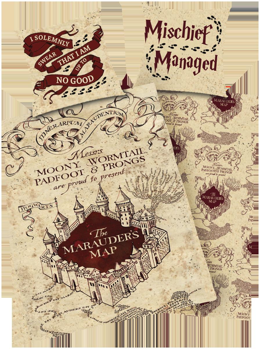 Harry Potter - Karte des Rumtreibers - Bettwäsche - multicolor - EMP Exklusiv!