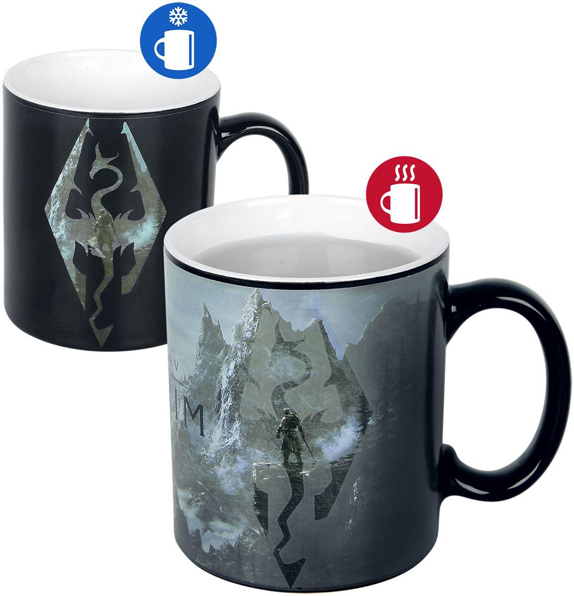 The Elder Scrolls V - Skyrim - Dragon Symbol - Tasse mit Thermoeffekt Tasse multicolor MGH0065