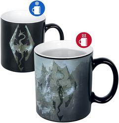 V - Skyrim - Dragon Symbol - Tasse mit Thermoeffekt