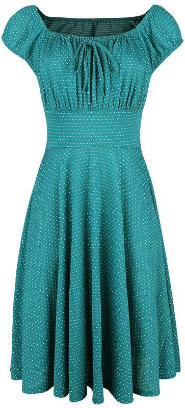 Tessy Green Gathered Dress
