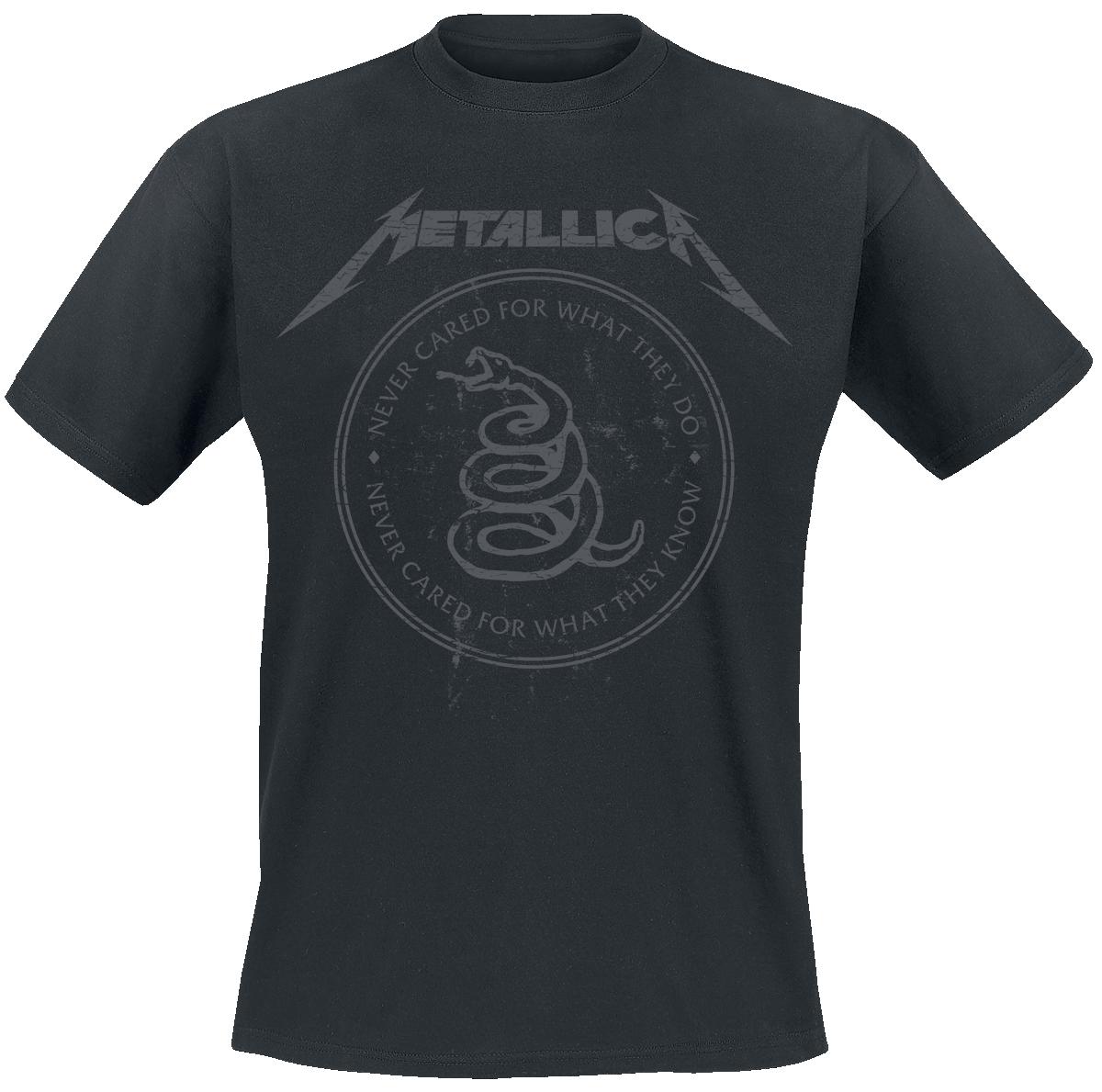 Metallica - Snake Ring Tonal - T-Shirt - black image