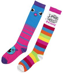 2er Pack Monster Regenbogen Socken