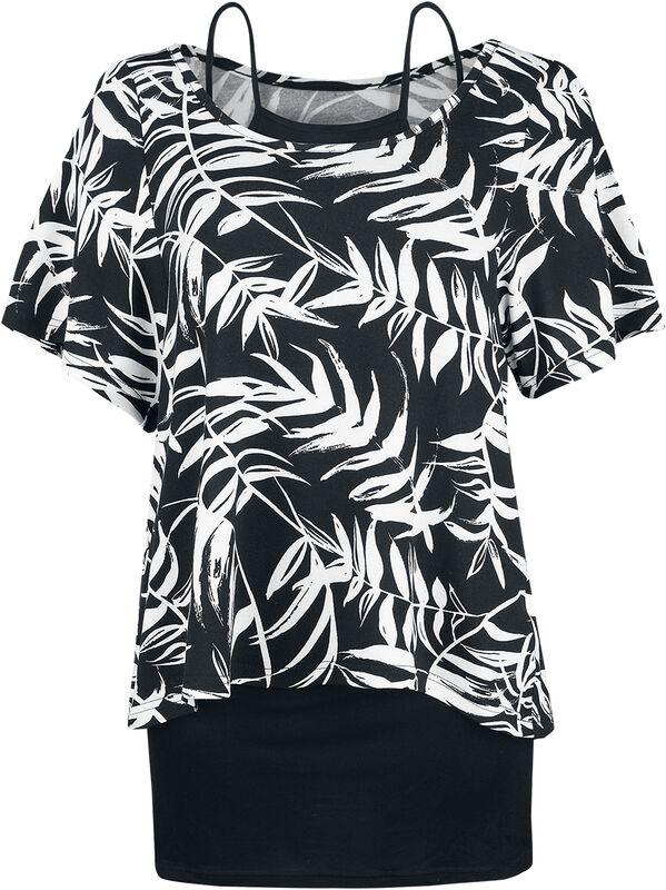 2 in 1 AOP Leaves Shirt