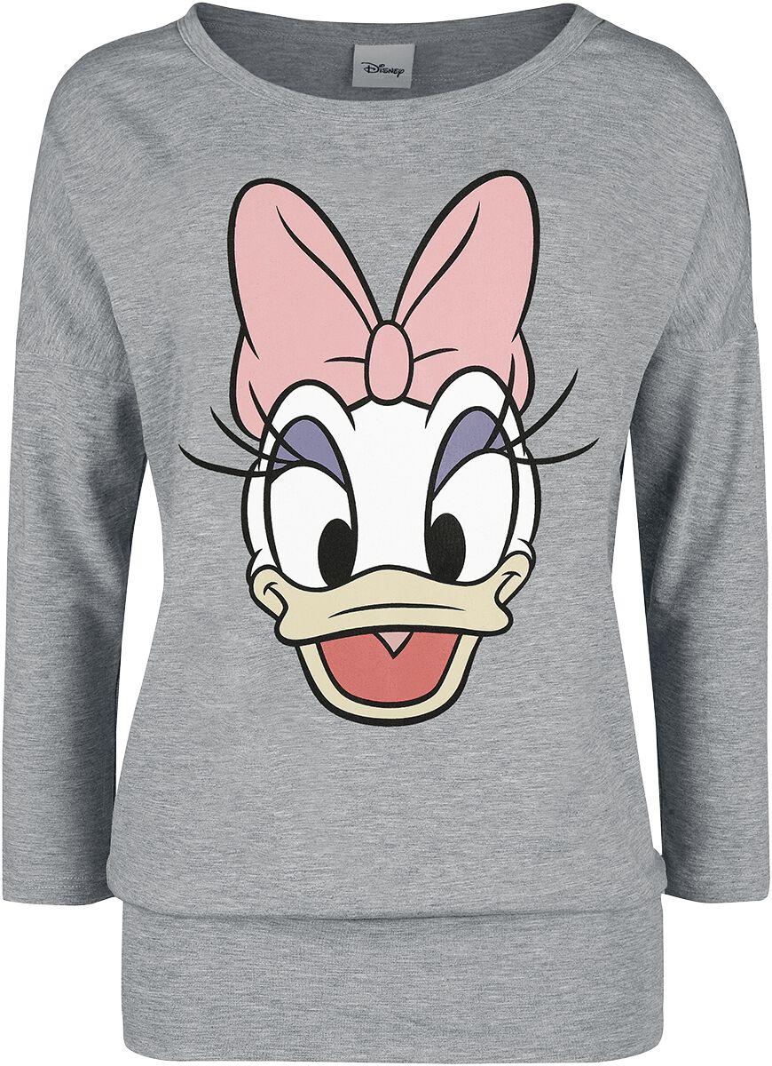 DuckTales Daisy Duck Langarmshirt grau meliert 390812