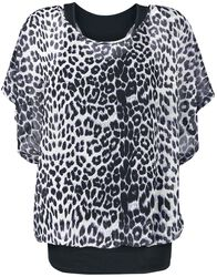 2 in 1 Leo Print Batwing