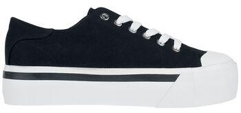 Schwarze Sneaker mit Plateau-Sohle
