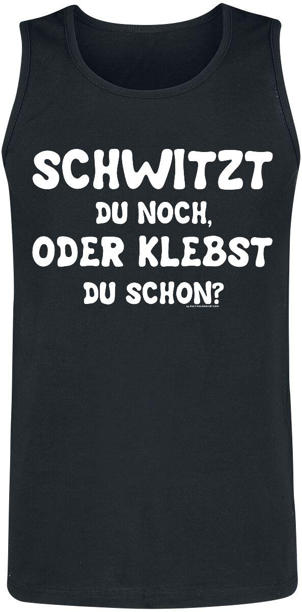 Schwitzt du noch, oder klebst du schon? Tank-Top schwarz Fruit of the Loom Athletic Vest (61-098-0)