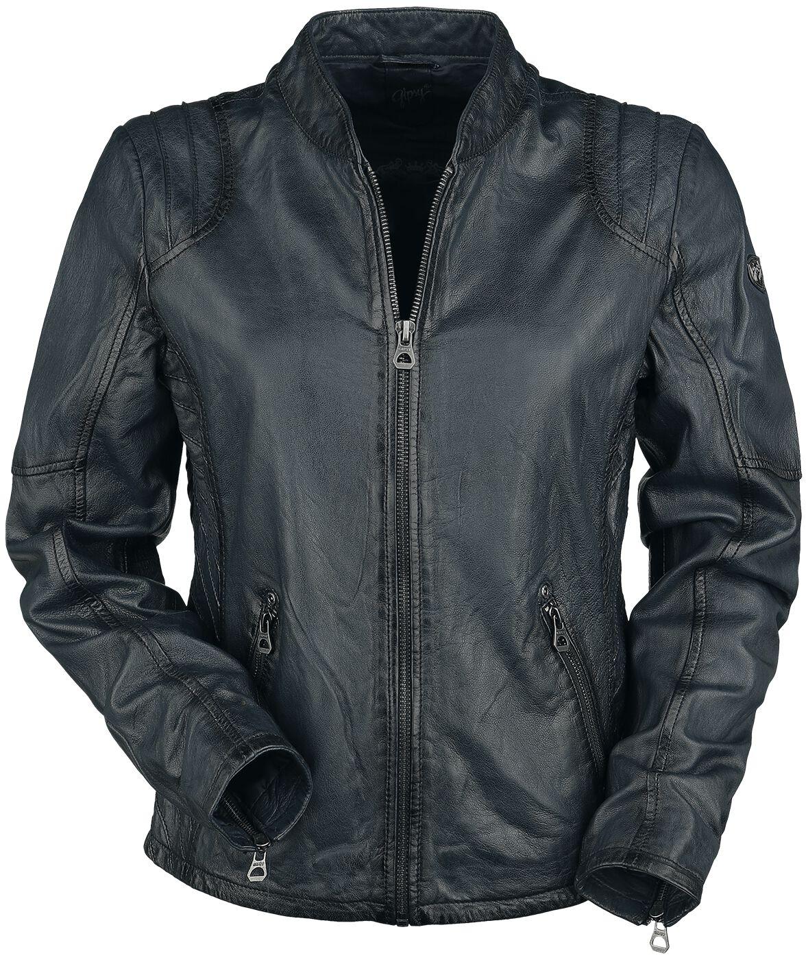 Jacken für Frauen - Gipsy Sashi W18 LVV Lederjacke navy  - Onlineshop EMP