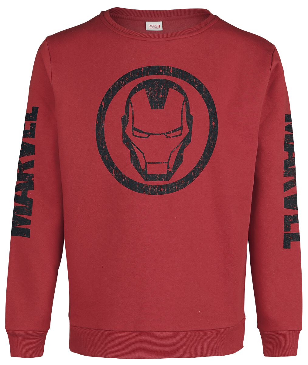 Image of Iron Man Helmet Pullover rosso