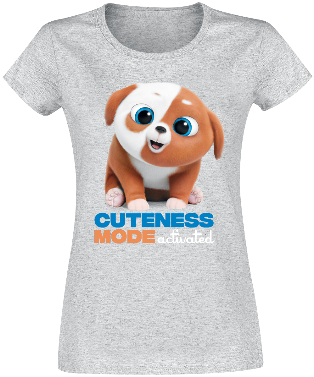 The Secret Life Of Pets - 2 - Cuteness Mode Activated - Girls shirt - mottled grey image