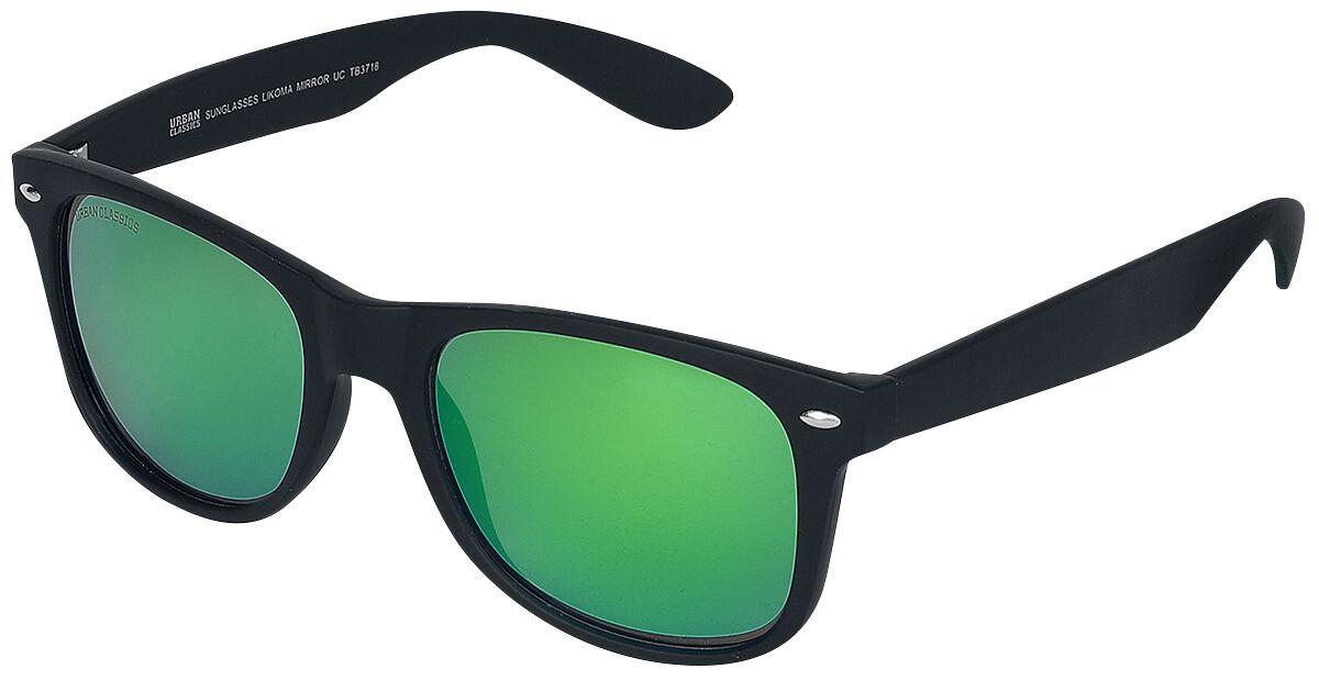 Sonnenbrillen - Urban Classics Likoma Mirror Sonnenbrille schwarz grün  - Onlineshop EMP