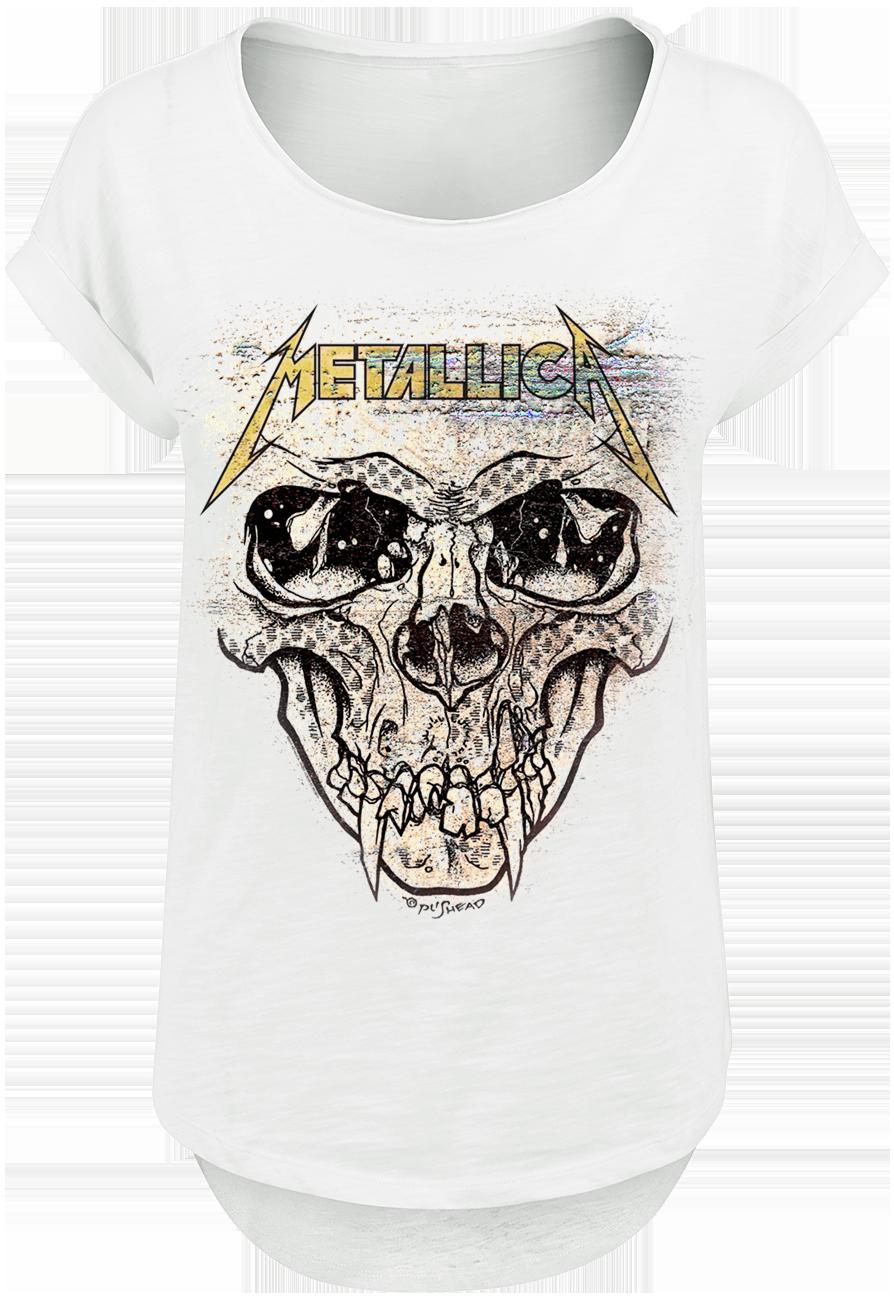 Metallica - Pushead Rusted - Girls shirt - white image