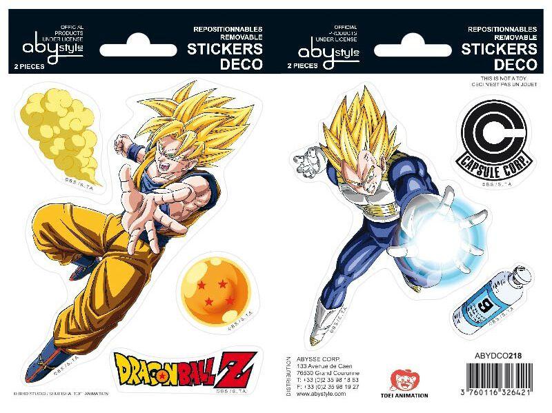 Image of Dragon Ball Goku und Vegeta Aufkleber-Set multicolor