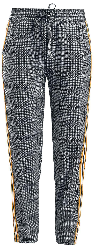 Hosen für Frauen - Sublevel Tape At Sides Stoffhose schwarz weiß  - Onlineshop EMP
