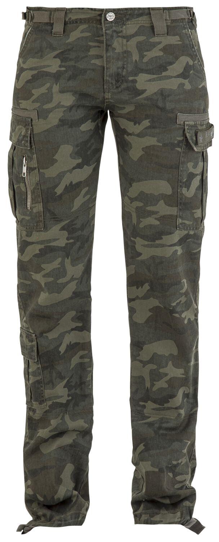 Hosen für Frauen - Black Premium by EMP Army Vintage Trousers Cargohose camouflage  - Onlineshop EMP