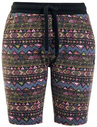 Bunte Shorts mit Muster