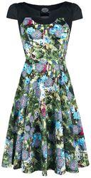 Green Crop Floral Swing Dress