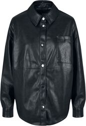 Ladies Faux Leather Overshirt