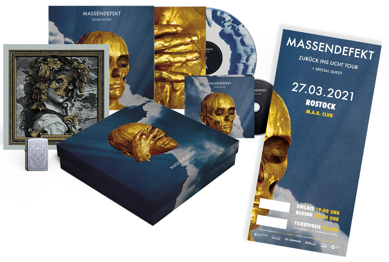 Image of Massendefekt Zurück ins Licht - Rostock - 27.03.2021 - M.A.U. Club CD & LP & Ticket Standard