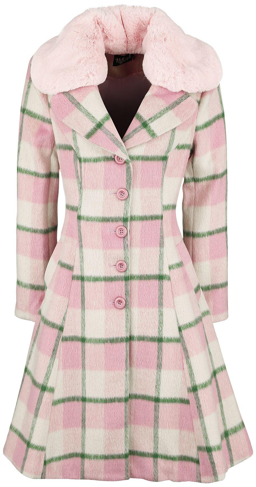 Jacken - Hell Bunny Millicent Coat Mantel rosa grün  - Onlineshop EMP