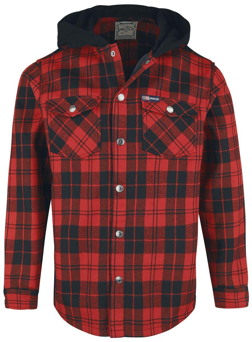 Image of GoodYear - Bonded Flannel Polar Fleece Jacket - Giacca di mezza stagione - Uomo - rosso