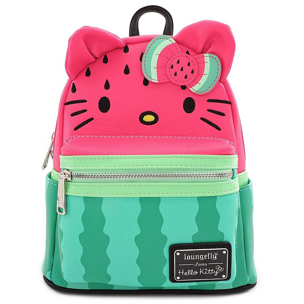 Rucksaecke - Hello Kitty Loungefly Wassermelone Mini Rucksack multicolor  - Onlineshop EMP
