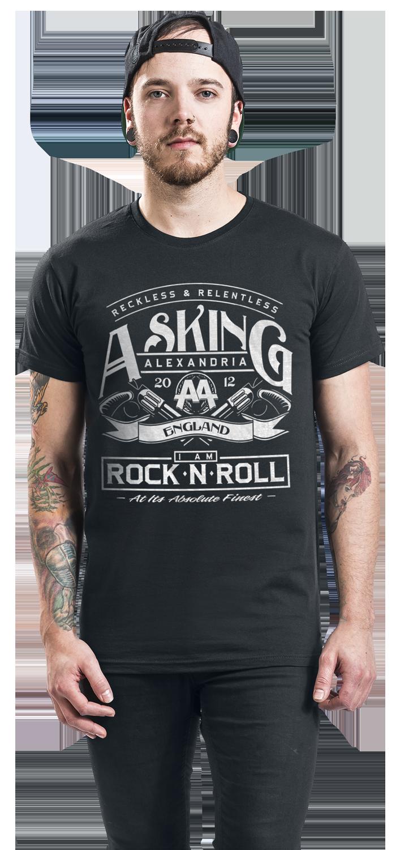 Image of Asking Alexandria Rock N Roll T-Shirt schwarz