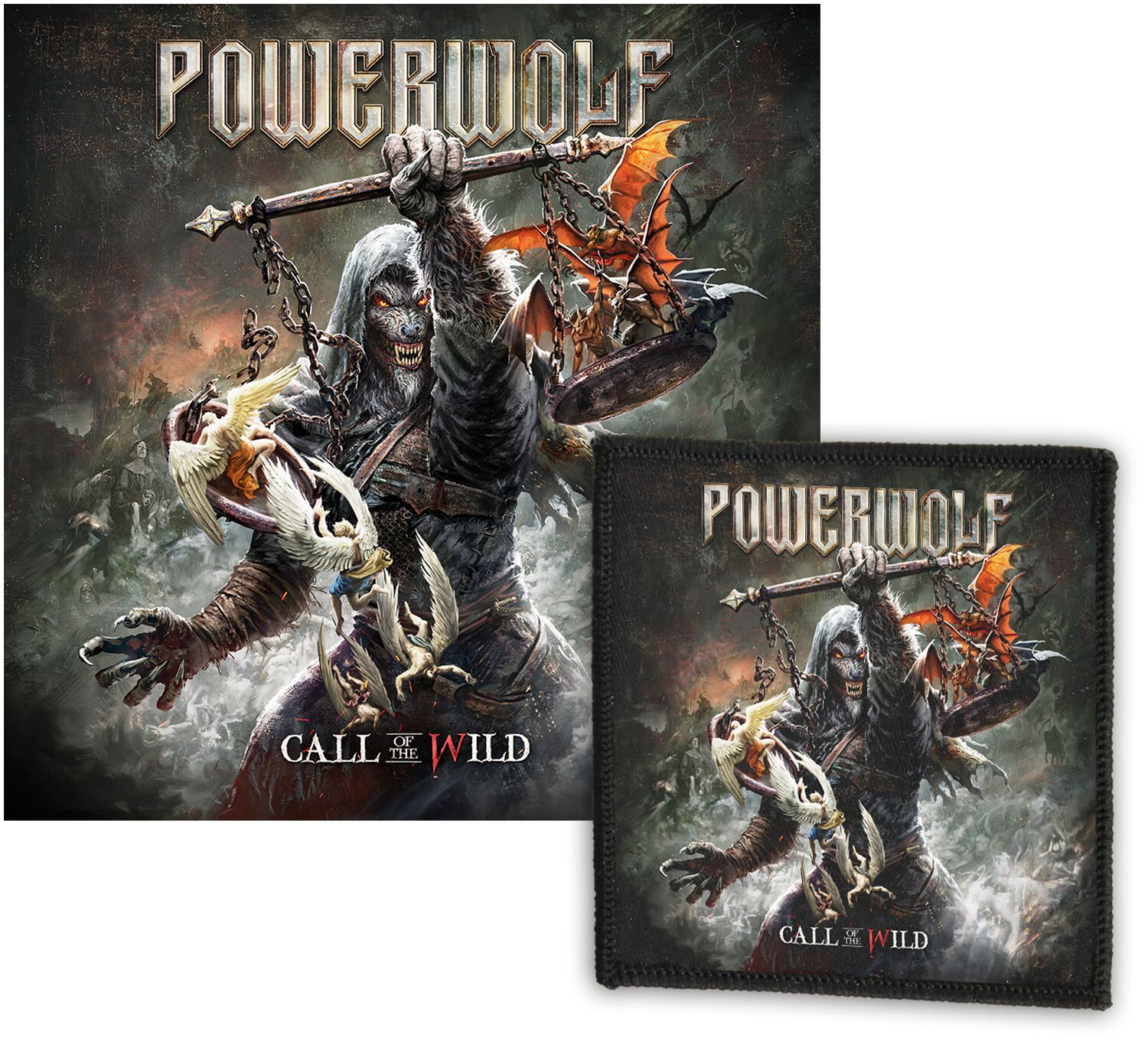 Image of Powerwolf Call Of The Wild 2-CD & Patch Standard