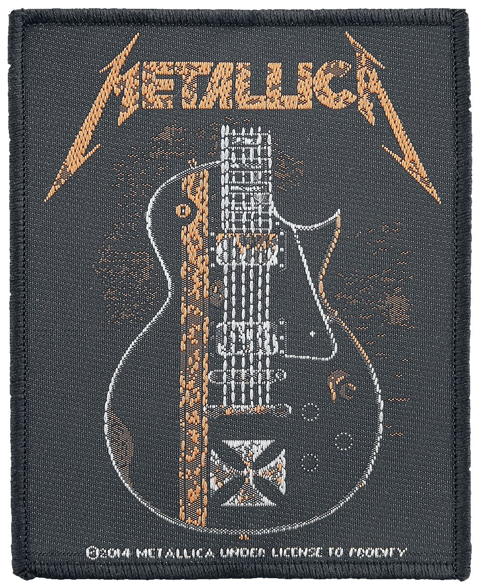 Metallica  Hetfield Guitar  Patch  multicolor