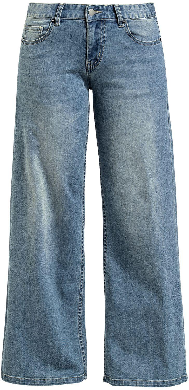 Hosen - Fashion Victim Jeans mit weitem Bein Jeans hellblau  - Onlineshop EMP