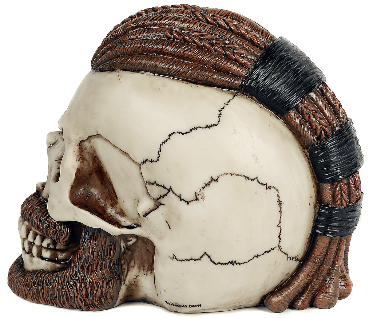 Image of Nemesis Now Ragnar Skull Deko-Schädel altweiß/braun