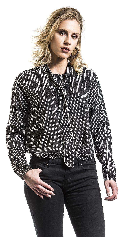 Image of Fashion Victim Gepunktete Bluse Bluse schwarz/weiß