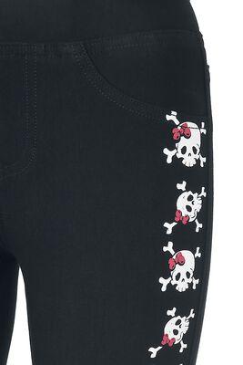 Leggings mit verspieltem Skull-Print