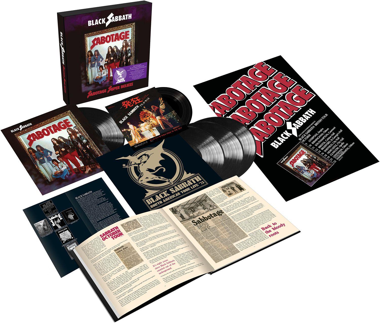 Image of Black Sabbath Sabotage 4-LP schwarz