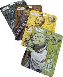 Chewbacca, Yoda, C3PO und Darth Vader