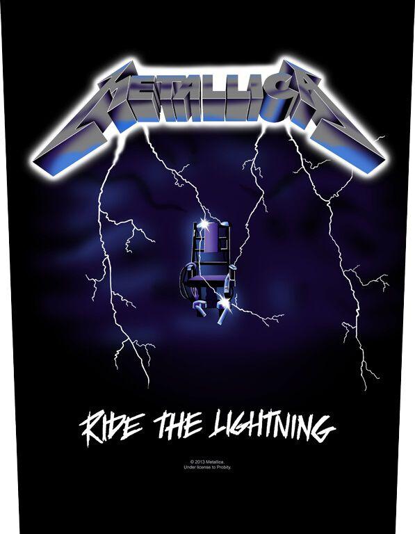 Metallica Ride The Lighting  Backpatch  schwarz