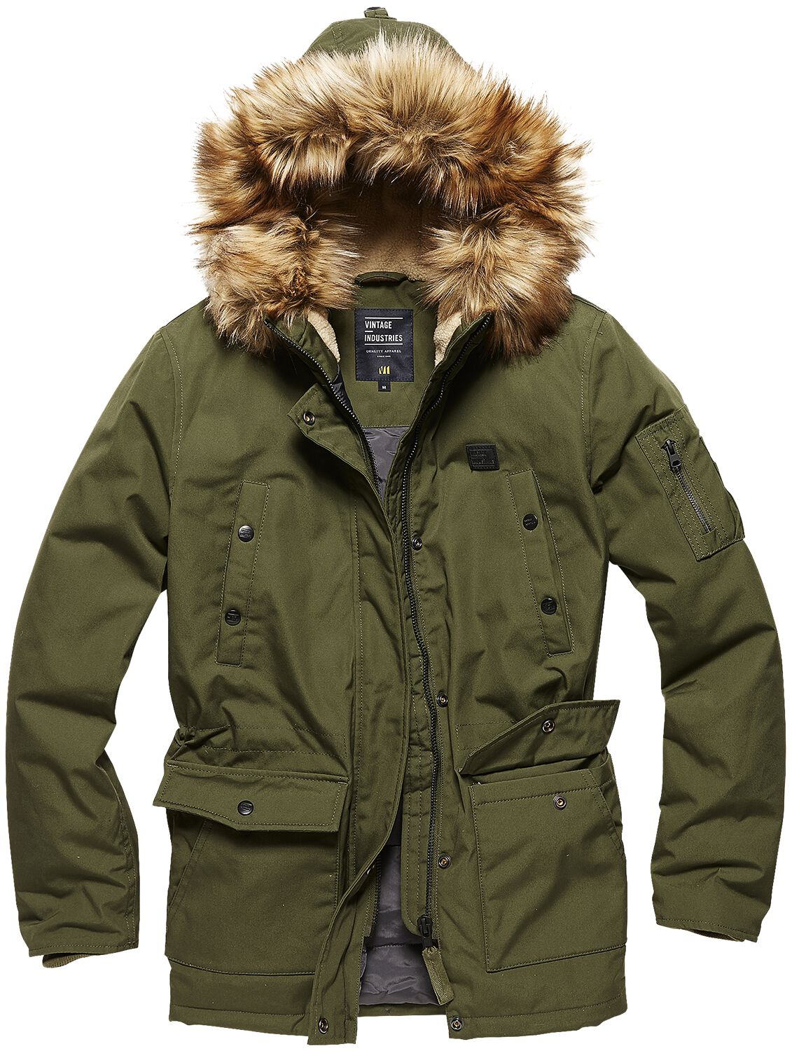 Jacken für Frauen - Vintage Industries Hailey Ladies Parka Girl Winter Jacke oliv  - Onlineshop EMP