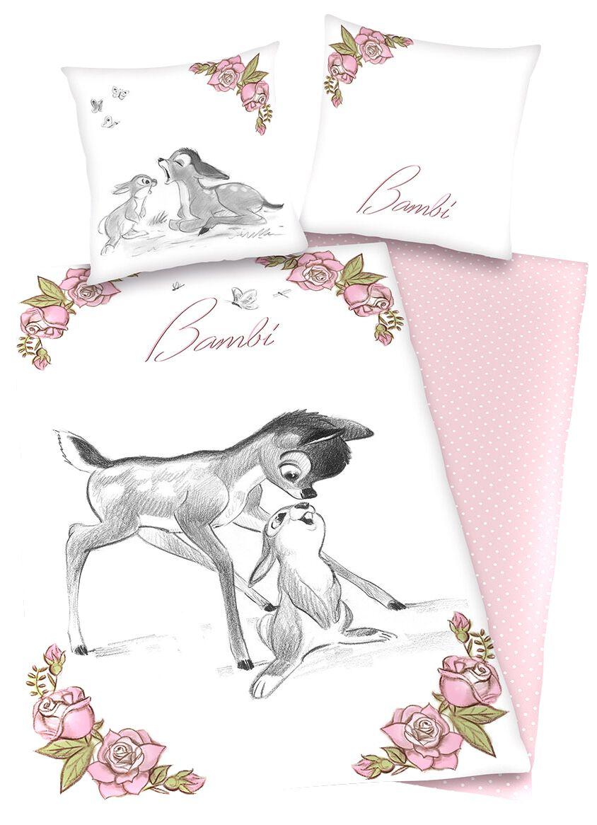 Bambi   Bettwäsche  rosa/weiß