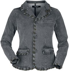 Graue Jenasjacke Rock Rebel