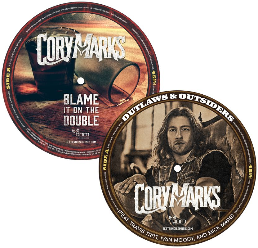Image of Cory Marks Outlaws & Outsiders 7 inch-SINGLE Picture