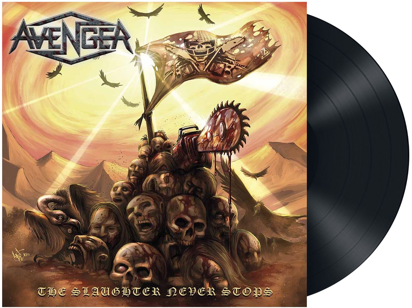Image of Avenger The slaughter never stops LP Standard