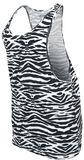 Ladies Zebra Loose Tank