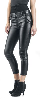 High Waist Leather Immitation Trousers